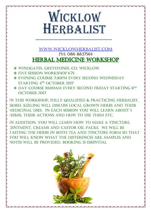 HERBAL MEDICINE WORKSHOP
